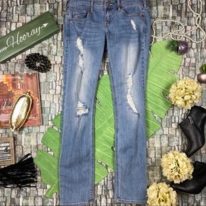 Hollister social stretch denim light wash